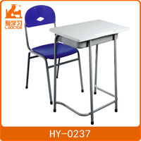 School furniture metal desk and chair set
