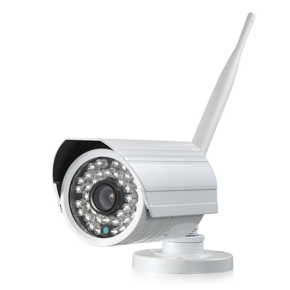 Wifi 2p2 wireless 1.0 mp ip camera, customized wifi camera, bullet camera with 36pcs IR LED night vision distance 15m