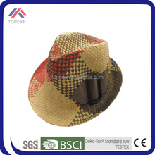 2014 crazy muticolor straw boater hat decoration ideas