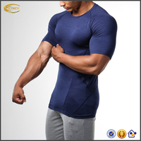 2017 NEW 100 Polyester Dry Fit Sportswear Custom Muscle Sport Gym T shirt For Men