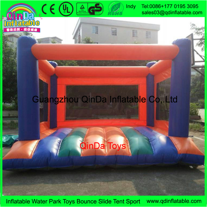 Popular games baby bjorn jumpoline bouncer house with inflatable jump pad
