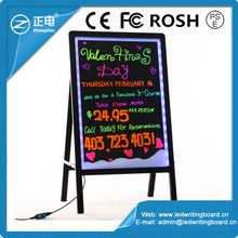 2015 China hot selling aluminium frame stand independently led street screen panel fluorescent sign message panel 60*80cm