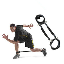 Custom Leg strength training device ankle resistance bands with foot loops