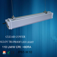 China led tri-proof light SMD2835 led linear light pc cover waterproof light