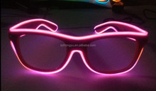 Crazy Funny Club Amazing Plastic EL Wire Flashing 3D luminous/noctilucent/fluorescent diffraction glasses party glasses
