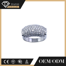 Hot selling fashion letter engagement ring, silver 925