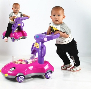 Factory wholesale cheap price tube new model pusher baby walker for big babies