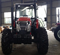 Agricultural machine 130hp farming tractor with front end loader and backhoe