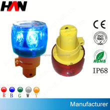 High power solar signal visor led warning light (flashing or revolving)