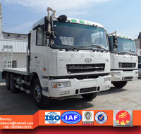 10ton Flat bed transport truck for tank,Caterpillar machinery and cargos