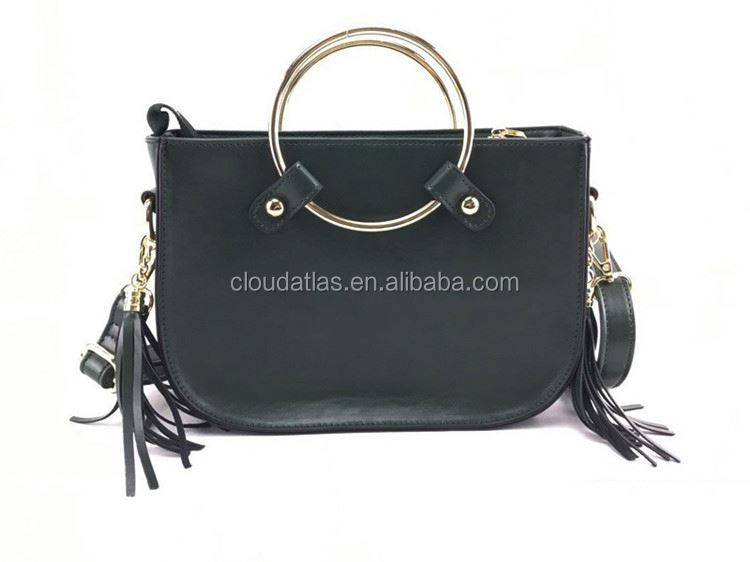Best selling good quality genuine leather handbag women