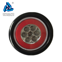 YTR4131 New Style 4'' Round LED Flat Tail Light with 3 Prong Connector