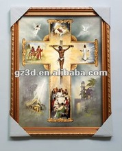Popular in Europe and America 3d religious pictures of jesus on the cross (4015)