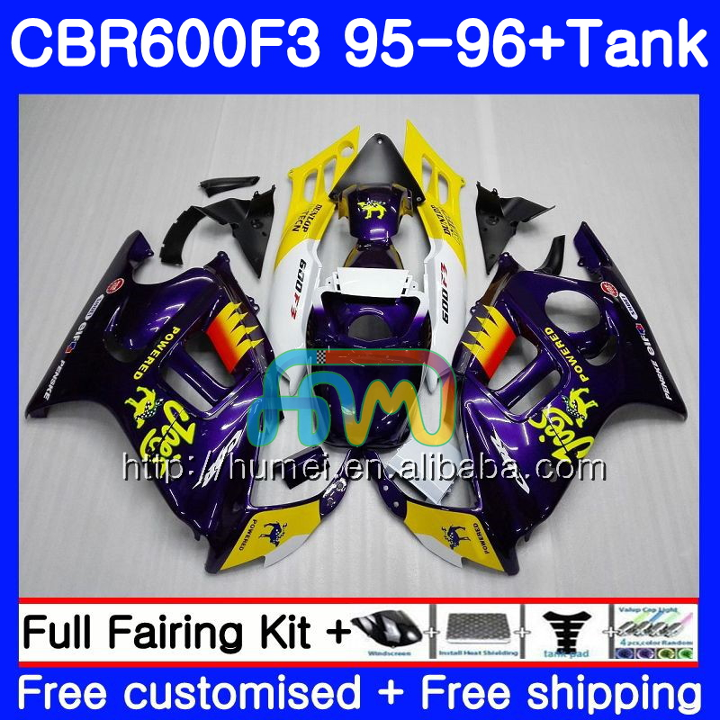 Body For HONDA CBR600RR F3 CBR600 F3 95 96 CBR600FS 13HM15 CAMEL purple CBR 600F3 FS CBR600F3 CBR 600 F3 1995 1996 Fairing kit