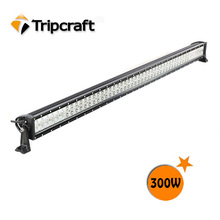Universal 300W LED light bar with rivets high power led offroad light bar qiye atv parts