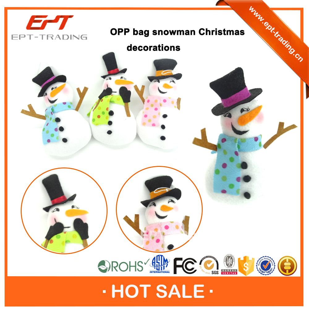 Top selling small snowman plush toy for sale