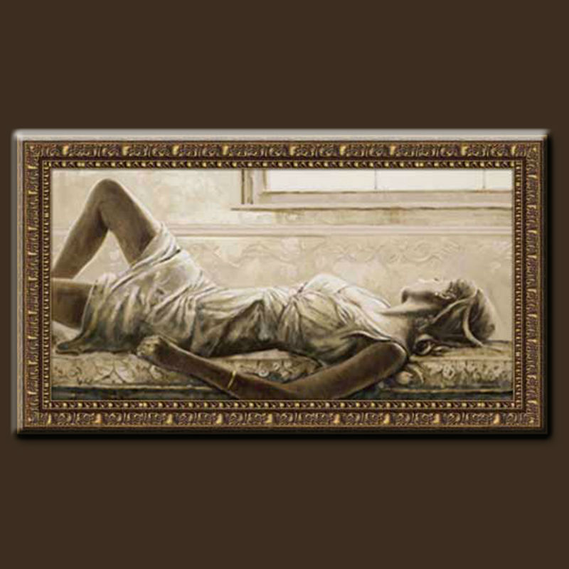 100% Handmade Womens Nude Oil painting Hot Sex Images With Sexy Nude Girl For Wall Decoration