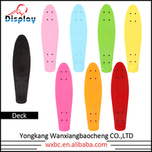 "22""*6"" fish shape skateboards with pp decks and pu wheels for sale New Design Deck Fish Skateboard"