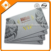 high quality silver glittering glossy lamination vip restaurant membership card