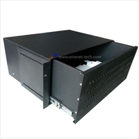 "3U 19"" 96 port SC FC LC ST adpter Rack mount drawer type fiber optic patch panel with splice tray"