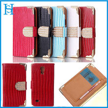 Wholesale Factory Price for Samsung S4 mini Lizardstripe Leather Case,For Galaxy S4 mini