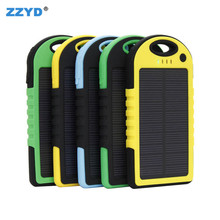 ZZYD Portable Waterproof Solar Charger Power Bank 10000mah For Outdoor Activities with led light External battery