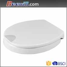 Care commode raised toilet seat with soft close
