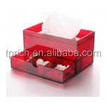red and multilayer acrylic tissue box