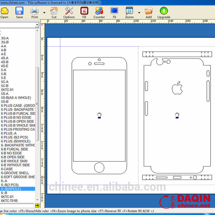 Vinyl Cutter Plotter Software For Mobile Phone Stickers