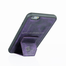 2016 best products mobile phone grave leather case for iphone6 plus