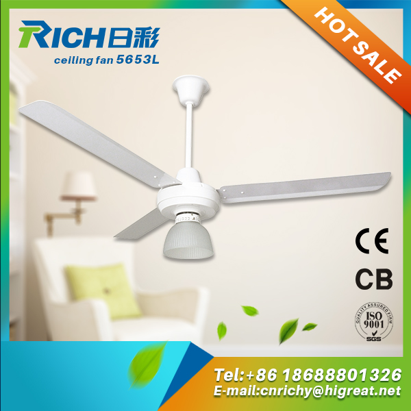 Promotional price summer flashing ceiling fan with led light