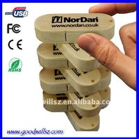 Environmental wooden Swivel USB flash drives/memory/bulk