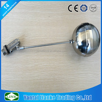 stainless steel 304 316 2 inch water storage tank ball float valve