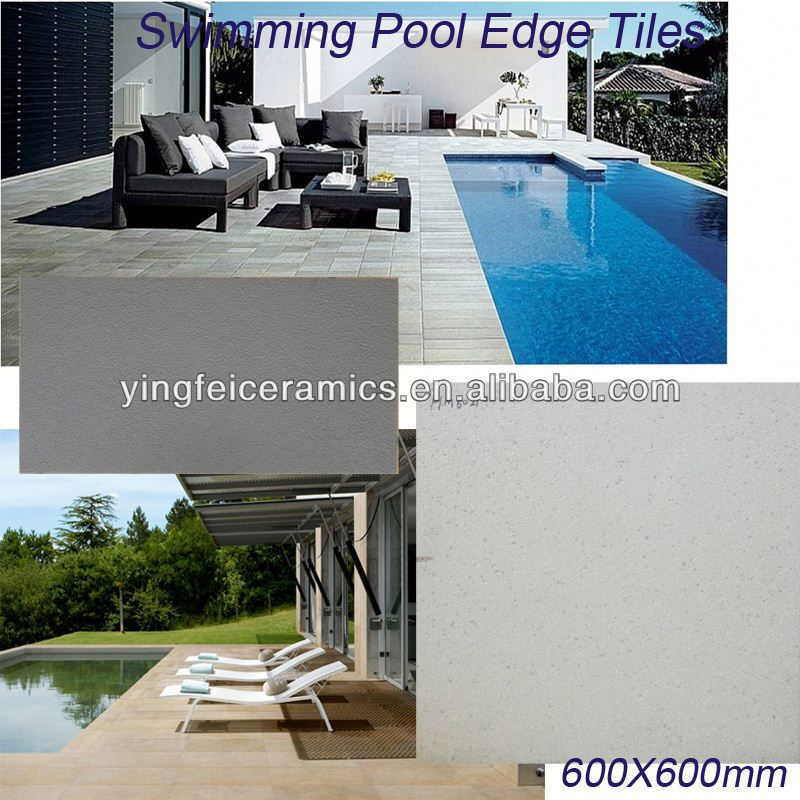 Full body porcelain tile for swimming pool edge tile