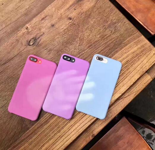 New arrival PU UV sensor cell phone case Ultraviolet Light Sensitive color changing phone case for iphone 6S 7