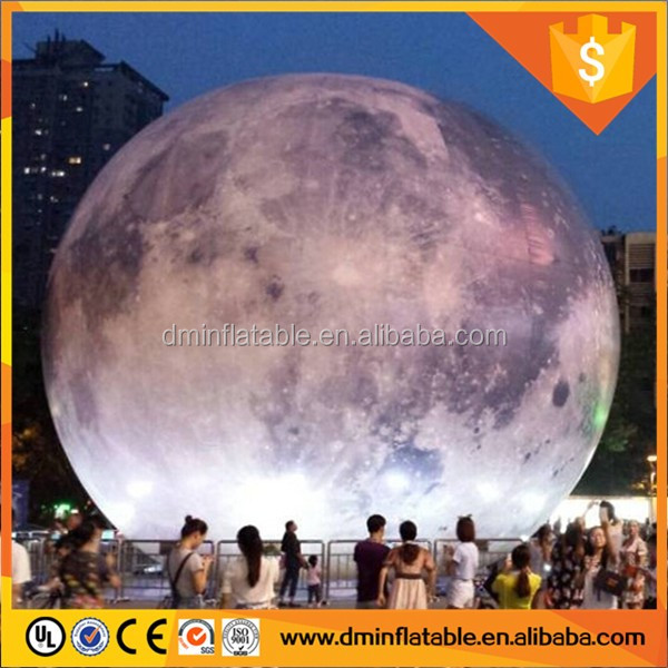 lighted inflatable moon balloon outdoor decorations