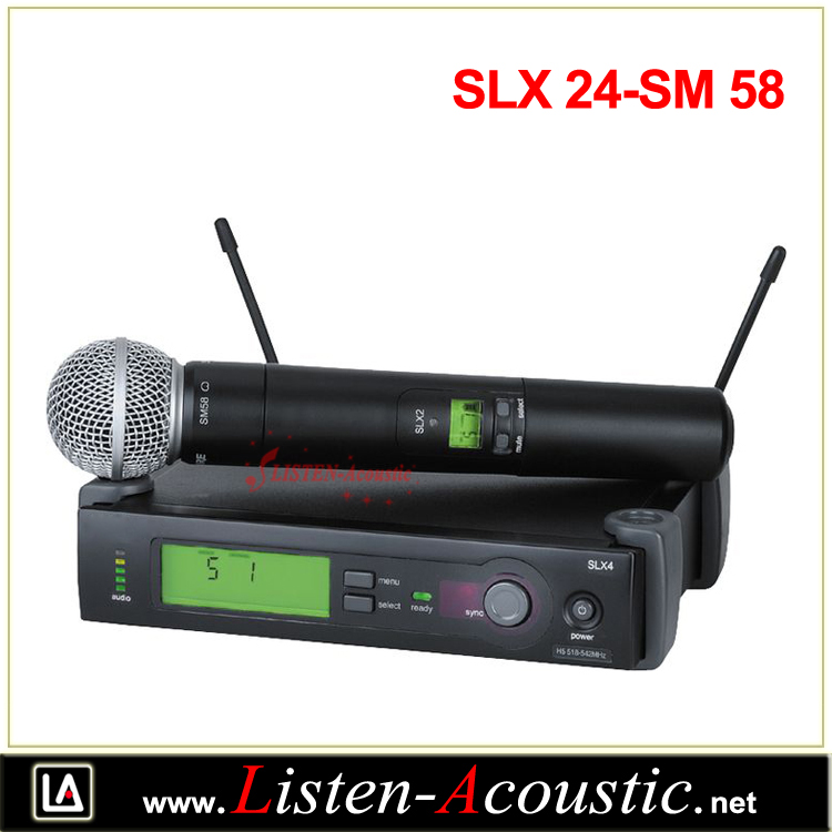 UHF Outdoor Long Range Wireless Microphone System SLX 24-SM 58