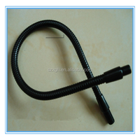 Hollow Flexible Tablet Steel Black Finish Gooseneck Metal Tube for Lamp/Light/Microphone Stands