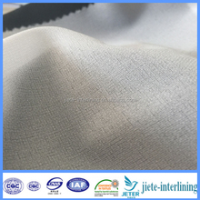 100%Polyester 30D PA Coated Fusible Woven Interlining&Lining Fabric CHANGXING Garment Accessories