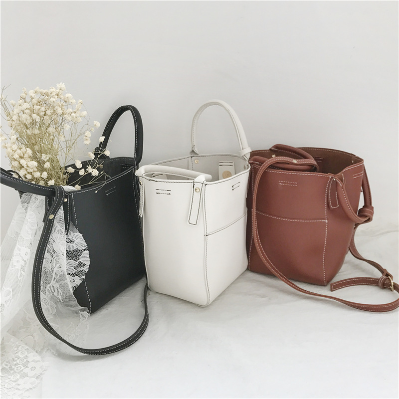ZH0347J Korean style three-dimensional high quaility oblique cross <strong>bag</strong> handbag PU bucket <strong>bag</strong>