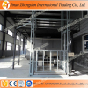 Dual mast cargo delivery elevator customized guide rail hydraulic lift tables