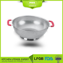 Stainless steel silicone vegetable strainer basket
