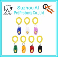 Promotional Any Logo Printed Button Training Pet Dog Clicker with Wrist Strap