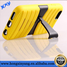 2 Layers Hybrid Heavy Duty Rubber Combo Robot Stand Case Cover