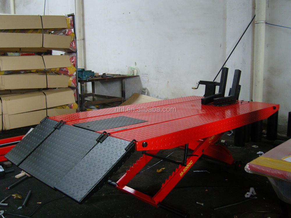 motorcycle car lift for hydraulic cylinder
