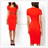 2015 New sexy ladies simple long bodycon designs office dresses WS00136