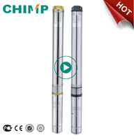 QJD series stainless steel housing centrifugal submersible water pump
