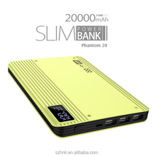 Wholesale New Arrival Top Selling three USB Charger 20000mAh Universal digital display Power Bank