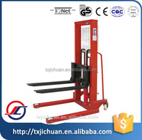 1TON/2TON Hydraulic Manual Hand Stacker Forklift With FAVORABLE PRICE and ONE Year Warranty