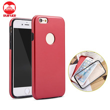 New Arrive Trendy Two Color 360 Degree Full Cover TPU+PC+Screen Protector One Bady Hybrid Shockproof Case for Iphone 7 6